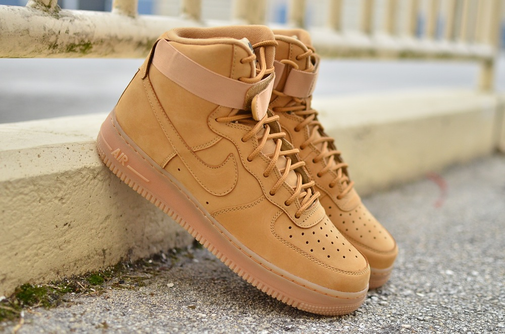 buy online 0512b 8ad89 Nike Air Force 1 High 'Flax' Links - Sneaker Haul